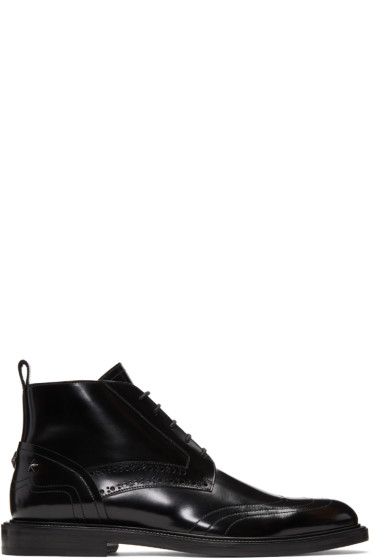 Jimmy Choo - Black Leather Star Allister Boots
