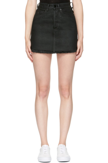 Marcelo Burlon County of Milan - Black Denim Katt Miniskirt