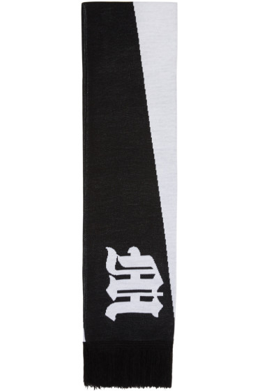 Marcelo Burlon County of Milan - Black & White Jaci Scarf