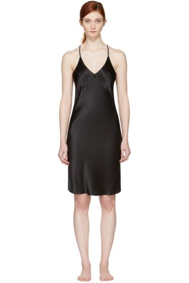 Fleur du Mal - Black T-Strap Slip Dress