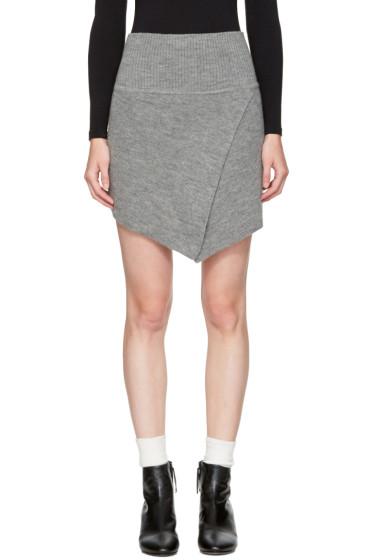 Isabel Marant Etoile - Grey Blithe Miniskirt
