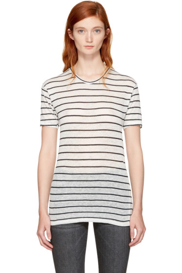 Isabel Marant Etoile - Ecru & Black Striped Andreia T-Shirt