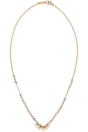 Isabel Marant - Gold Bead Drop Necklace
