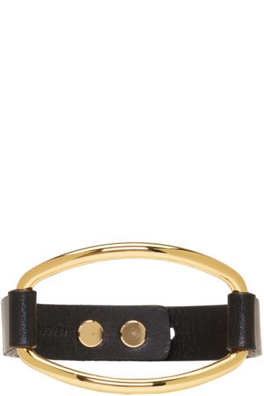 Isabel Marant - Black & Gold Leather Bracelet