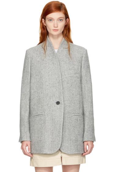Isabel Marant - Grey Herringbone Elis Coat