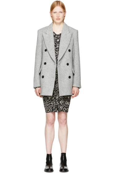 Isabel Marant - Grey Herringbone Elley Coat