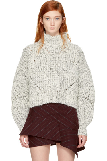 Isabel Marant - Ecru & Black Farren Turtleneck