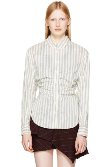 Isabel Marant - Ivory & Blue Verona Shirt