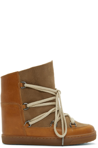 Isabel Marant - Camel Nowles Snow Boots