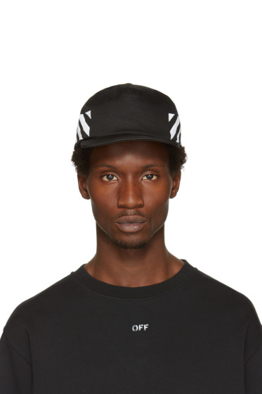 Off-White - Black Diagonal Brushed Cap