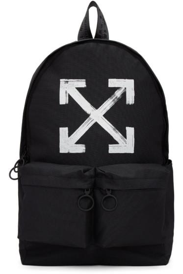 Off-White - Black Brushed Backpack