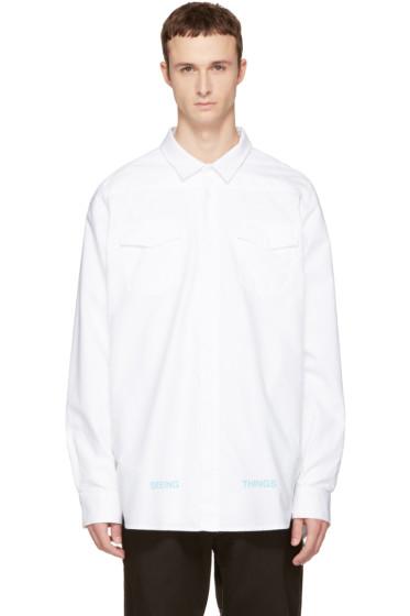 Off-White - ホワイト ブラッシュ アロー T シャツ