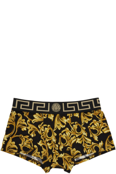 Versace Underwear - ブラック メドゥーサ ボロッコ ボクサー ブリーフ