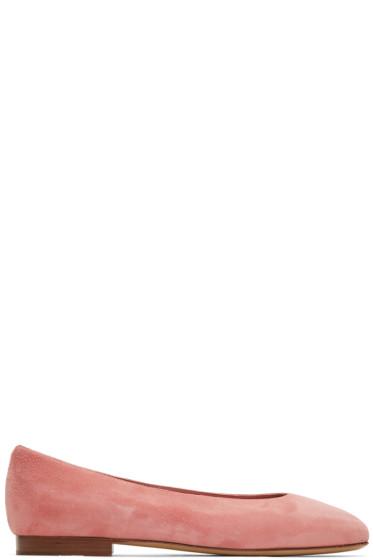 Mansur Gavriel - Pink Suede Ballerina Flats