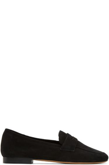 Mansur Gavriel - Black Suede Classic Loafers