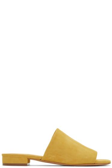 Mansur Gavriel - Yellow Suede Flat Mules