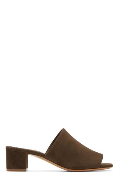 Mansur Gavriel - Brown Suede Mules