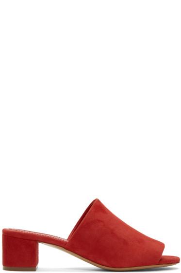 Mansur Gavriel - Red Suede Mules