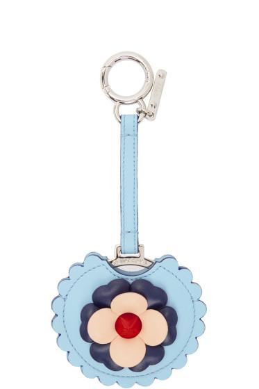 Fendi - Blue Flowerland Mirror Keychain