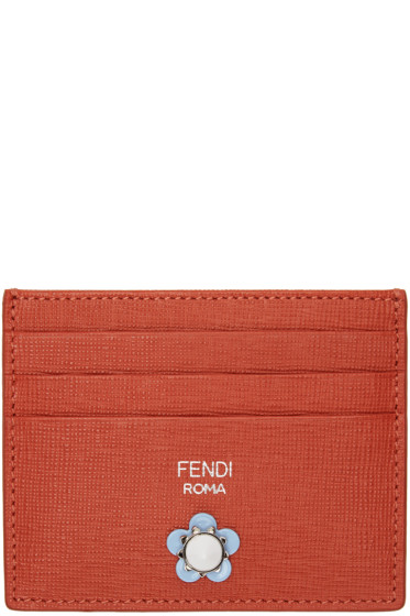 Fendi - Red Flowerland Card Holder