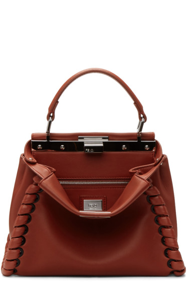 Fendi - Red Mini Peekaboo Bag