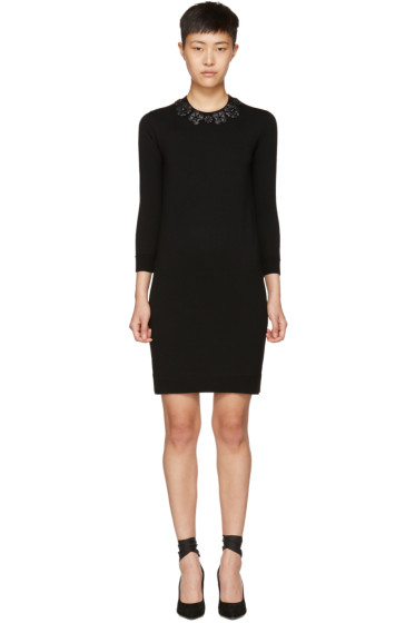 Fendi - Black Wool Flowerland Dress