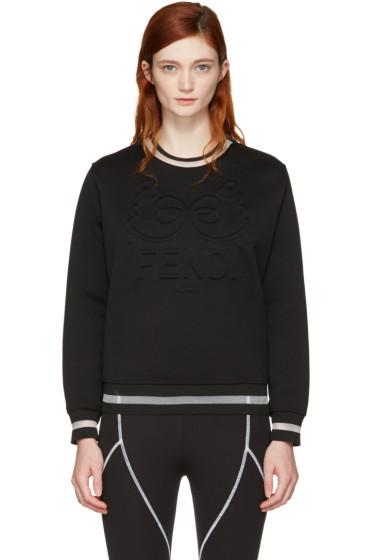 Fendi - Black 'Fendi Roma' Sweatshirt