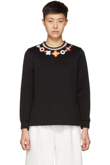 Fendi - Black Flowerland Sweatshirt