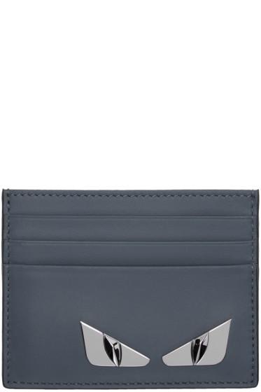 Fendi - Blue 'Bag Bugs' Card Holder