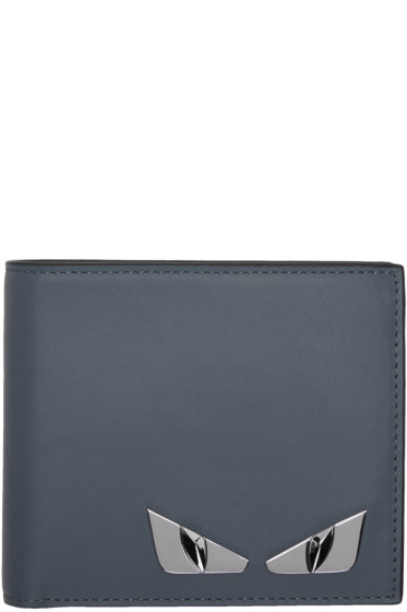 Fendi - Blue 'Bag Bugs' Wallet