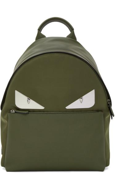 Fendi - Green 'Bag Bugs' Backpack