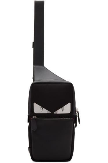 Fendi - ブラック メタル バッグ バグ バックパック