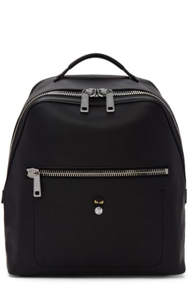 Fendi - Black Leather 'Micro Bugs' Backpack