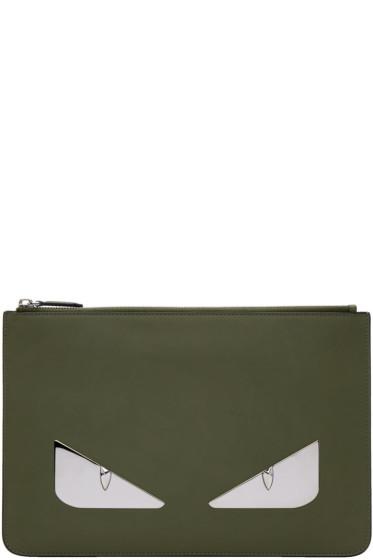 Fendi - Green 'Bag Bugs' Pouch