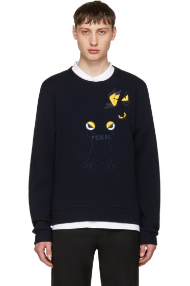 Fendi - Navy Butterfleyes & Frogs Sweatshirt