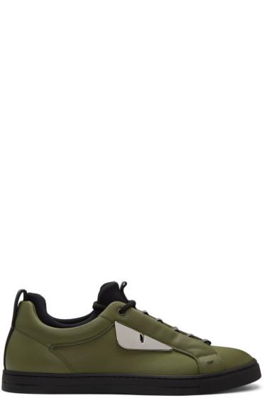 Fendi - Green 'Bag Bugs' Sneakers