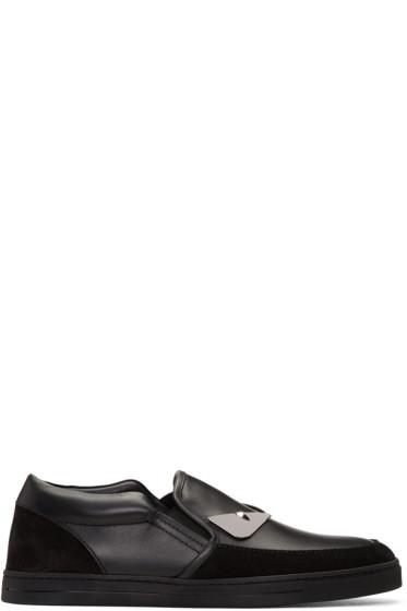 Fendi - Black 'Bag Bugs' Slip-On Sneakers
