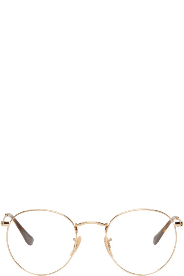 Ray-Ban - Gold Round Glasses