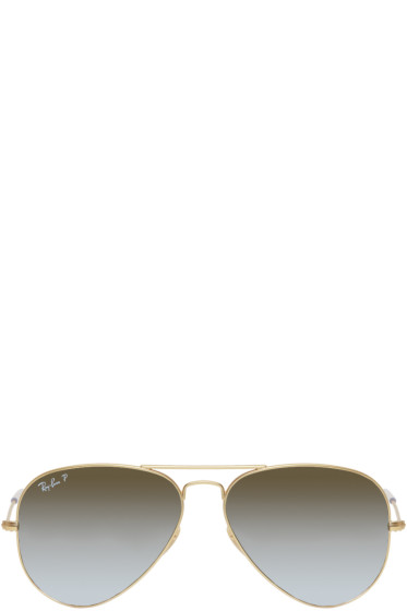 Ray-Ban - Gold & Grey Aviator Sunglasses