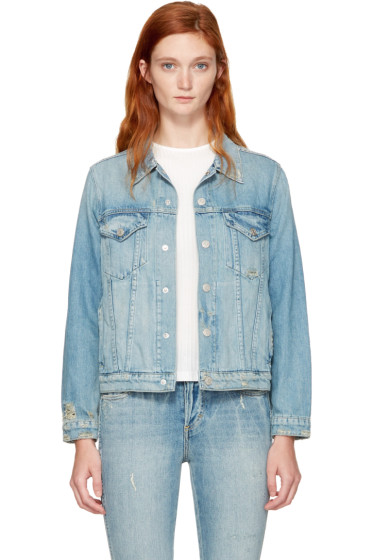 Amo - Blue Denim Pop Jacket