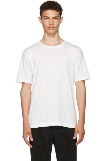 Issey Miyake Men - White Basic Bio T-Shirt
