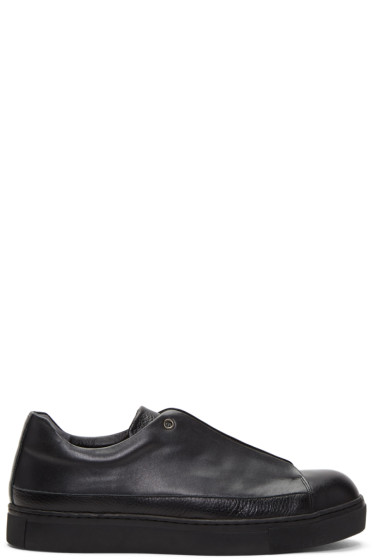 Issey Miyake Men - Black Flyfront Metal Sneakers