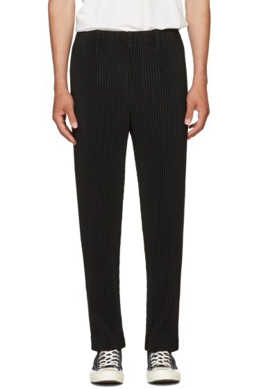 Homme Plissé Issey Miyake - Black Straight-Leg  Classic Pleats Trousers