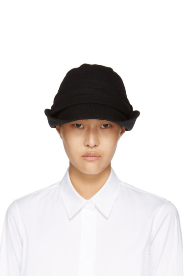 Y's - Black Brim Fold Cloche Hat