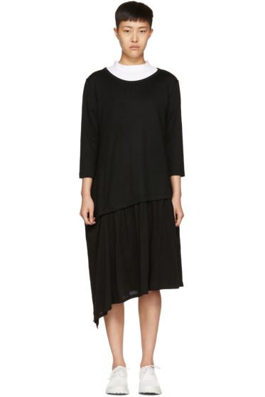 Y's - Black Short Ruffle Dress