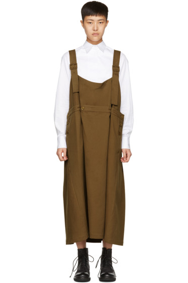 Y's - Brown Long Chino Dress