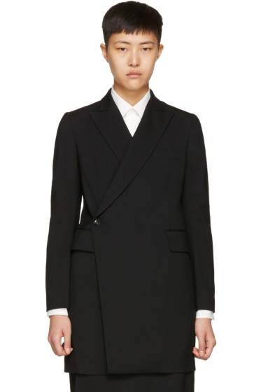 Y's - Black K-Long Coat