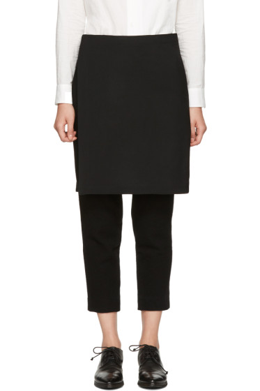 Y's - Black Wool Skirt Trousers