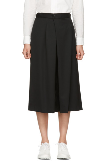 Y's - Black Wool Culottes