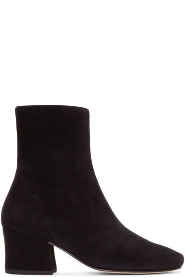 Dorateymur - Black Suede Sybil Leek Boots